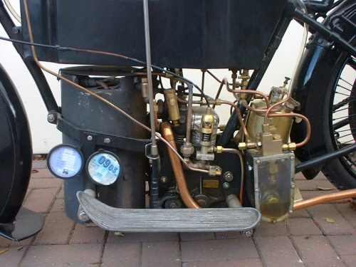 Monotube boiler, two cyl engine, water & fuel pump to right