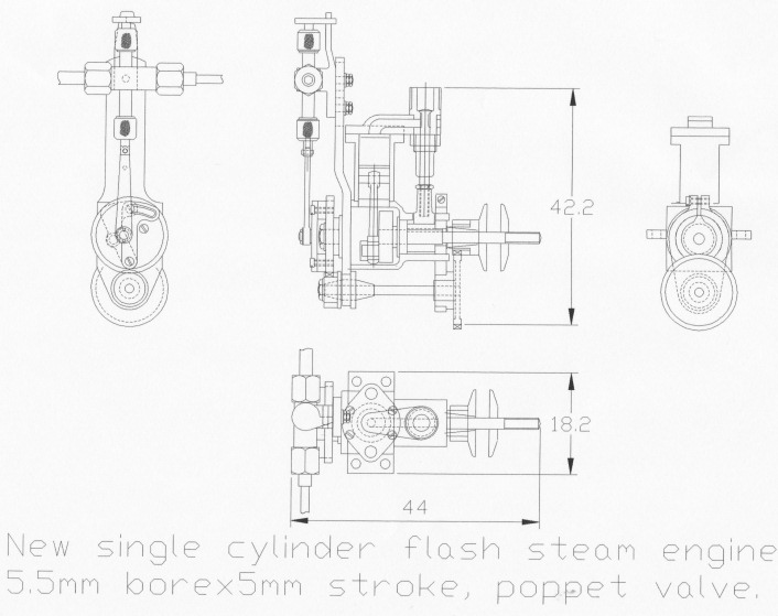 as mentioned i decided to try to design and build an even smaller engine  and monotube
